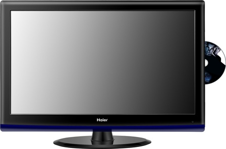 tv led haier 24 pouces avec lecteur dvd itnumeric. Black Bedroom Furniture Sets. Home Design Ideas